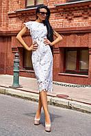 Красивое модное летнее женское платье 2020 цвет: белый, размер: S, M, L, XL
