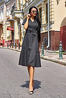 Красивое модное летнее женское платье хлопок цвет: черный, размер: S, M, L, XL