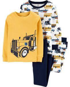Комплект бавовняних піжам Будівельна вантажівка з 4-х частин, фото 2