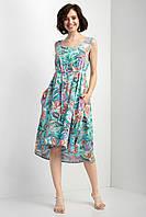 Красивое модное женское платье больших размеров  цвет: синий, размер: 2XL-3XL, 4XL-5XL, L-XL