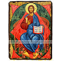 Икона Спас в Силах Спаситель, Господь Вседержитель ,икона на дереве 130х170 мм
