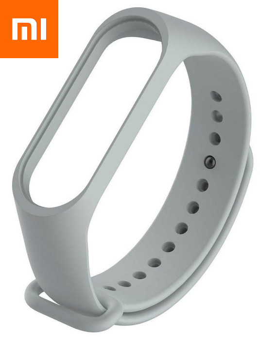 Ремешок для Xiaomi Mi Band 3 Серый Оригинальное Качество