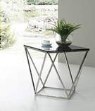 Журнальный стол CP-2 глянцевое тонированное стекло 50*50*53 Vetro Mebel, фото 2