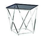 Журнальный стол CP-2 глянцевое тонированное стекло 50*50*53 Vetro Mebel, фото 10