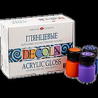 Акриловые краски глянцевые Deсola,набор 12 цветов 20 мл.ЗКХ