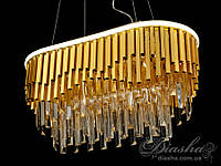 Хрустальная люстра овальной формы для гостиной со встроенной светодиодной подсветкой 55Вт&CDE6509/600x300-SL