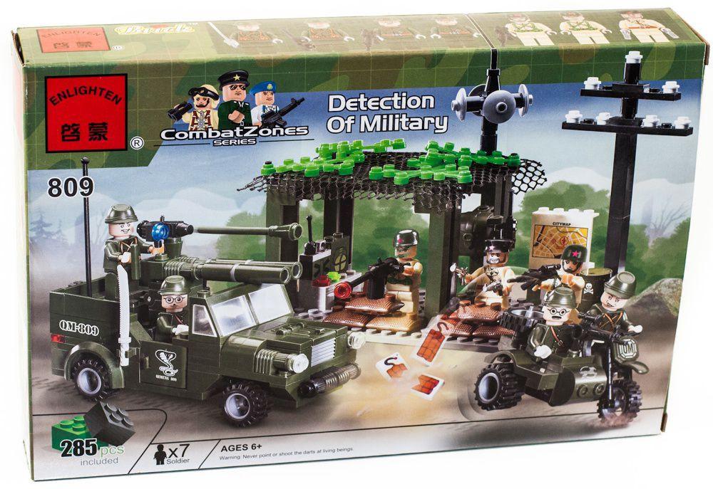 """Конструктор """"Разведгруппа"""" 285 деталей Brick-809 Лего lego"""