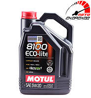 Моторное масло MOTUL 8100 ECO-LITE 5W20 (5л) API SN Plus, ILSAC GF-5, фото 1