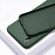 Силиконовый чехол SLIM на Samsung A70 Green