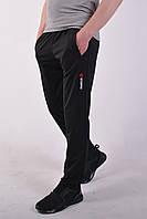 Размеры: 46/48/50/52/54. Мужские спортивные штаны Reebok (Рибок), Трикотаж лакост (пике) - черные