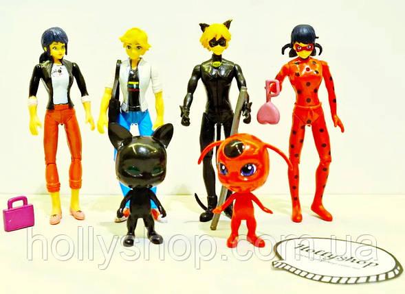 Набор фигурок Леди Баг Ледибаг и Супер Кот с подсветкой на шарнирах Miraculous Ladybug and Cat, фото 2