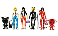 Набор фигурок Леди Баг Ледибаг и Супер Кот с подсветкой на шарнирах Miraculous Ladybug and Cat