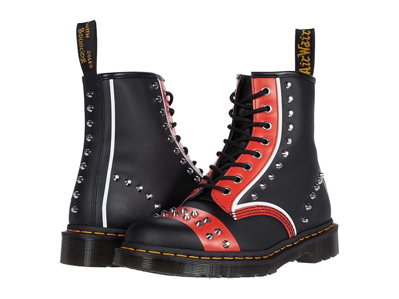 Ботинки/Сапоги (Оригинал) Dr. Martens 1460 Stud Black/Red/White