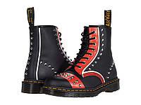 Ботинки/Сапоги (Оригинал) Dr. Martens 1460 Stud Black/Red/White, фото 1