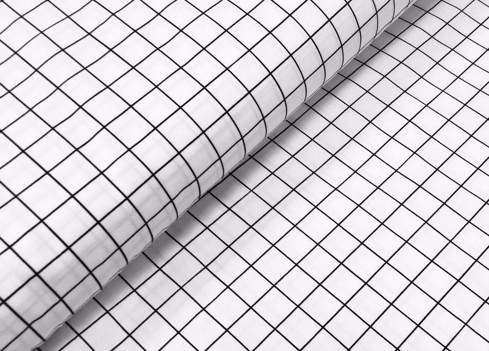 Сатин-твил Клеточка черно-белая