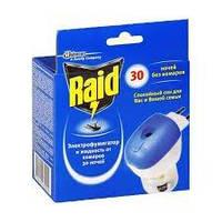 Средство от насекомых Raid комплект эл.фумигатор+жидкость с регулятором интенсивности 30 ночей без комаров 0158270