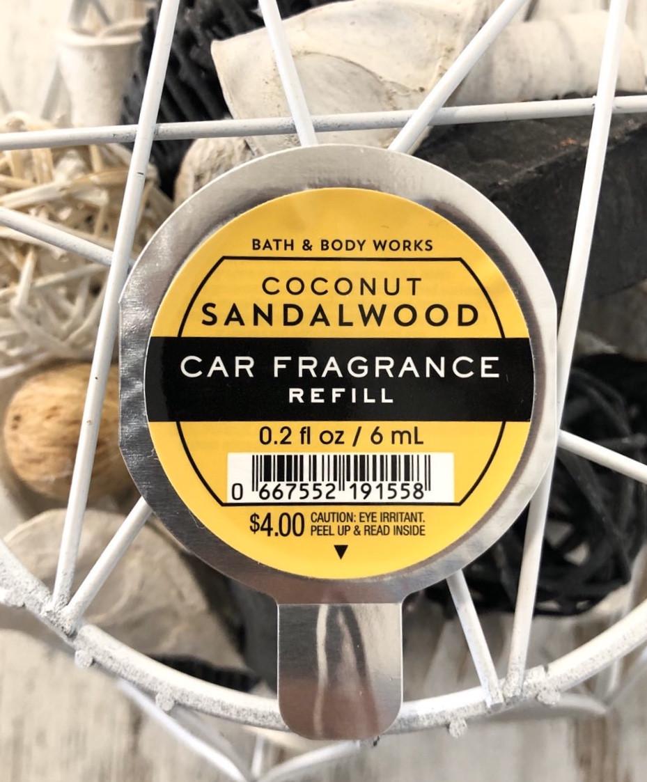 "Аромат в машину ""Кокос и сандаловое дерево"" Bath and Body Works"