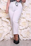 Брюки белые летние  женские большого размера: 52, 54, 56, 58, 60, 62,64, 66, 68, 70