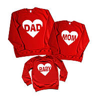 "Family look семейные свитшоты набором ""dad mom baby"" Family look"