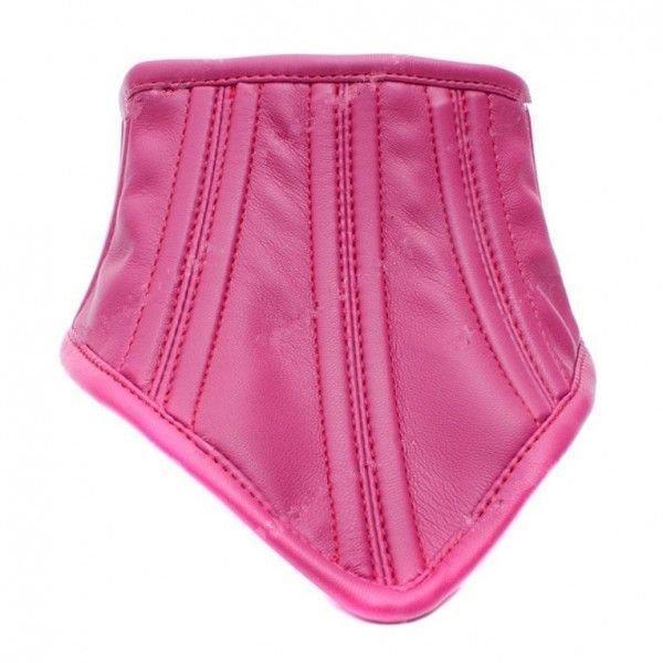 Благородный кожаный ошейник розовый
