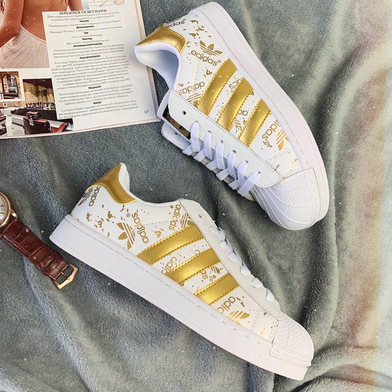 Кроссовки женские Adidas Superstar 3059 ⏩ [ 37 ] последний размер