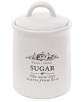 Банка керамическая Natural Bonadi Sweet Home 875-323 для хранения Сахара 1 л Белый (875-323)