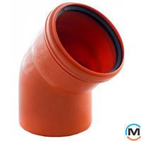 Колено канализационное Magnaplast KG 110/15