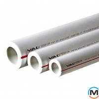 Полипропиленовая труба Valtec PP-ALUX арм. алюминием PN25 40 MM (белый)