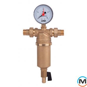 """Самопромывной фильтр для воды, с американками  Icma 1/2"""""""