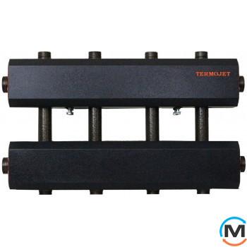 Коллектор комбинированный Termojet Dn50 в кожухе, 4 выхода вверх/ вниз Dn32
