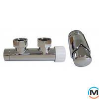 Комплект Schlosser Duo-Plex 3/4 x M 22х1,5 прямой хром 2 шт Нипель