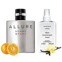 Chanel Allure Homme Sport Парфюмированная вода 110 ml (Мужские Шанель Аллюр Хоум Спорт Духи Алюр Хом Мужской