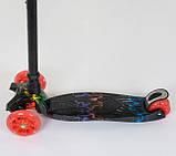 Самокат трехколесный детский со светящимися колесами принтом Best Scooter Maxi А24659/779-1308, фото 3