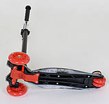 Самокат трехколесный детский со светящимися колесами принтом Best Scooter Maxi А24659/779-1308, фото 4