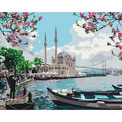 """Картина по номерам. Городской пейзаж """"Турецкое побережье""""  40*50см * KHO2166"""