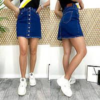 0590-12 Arox юбка джинсовая на пуговицах весенняя стрейчевая (36,38,40, 3 ед.), фото 1