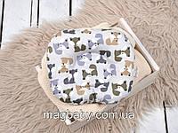 Подушка для новорожденных Классик, лисички