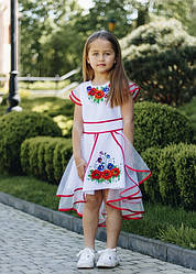 """Нарядне плаття на дівчинку """"Мія"""",вишиванка, розміри 98,104,110,116,122,128,134 ,140, біле сукня"""