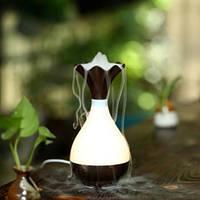 Арома-увлажнитель WooD Jade Bottle Темное дерево