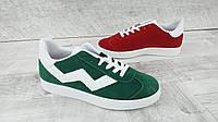 Стильные  женские кроссовки ,2 цвета красный, зелёный