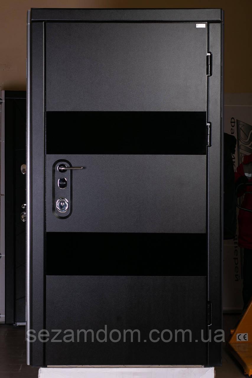 Элитная входная дверь, с зеркалом на замке Mottura, 2мм. металл три контура уплотнения