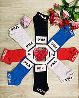 Носки спортивные демисезонные хлопок FILA Турция укороченные размер 37-39 Турция ассорти