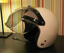 Бабл визор на ретро 3/4 хамелеон шлем каску ретро Полулицевик bubble visor, фото 2