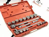 """Набор инструментов 12 граней для грузовых авто 3/4"""" 19-50 мм 21ел Lex"""