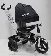 Велосипед дитячий триколісний AZIMUT T-400 NEO AIR з фарою. Чорний, фото 1