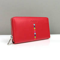 Красный кошелек женский Lison Kaoberg натуральная кожа  lk-94-574e red, фото 1
