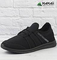 Чоловічі кросівки сітка чорні