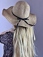 Шляпа соломенная женская со средним полем бежевая