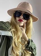 Шляпа плетеная женская демисезонная  розовая