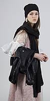 Палантин шарф женский демисезонный черный